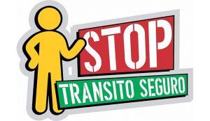 Logo de la campaña stop transito seguro