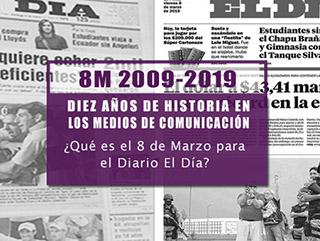 collage de tapas del diario El Dia con la pregunta ¿que es el 8 de marzo para El Dia?