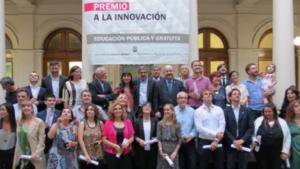 iNVESTIGADORES EN EL RECTORADO DURANTE EL PREMIO A LA INNOVACIÓN